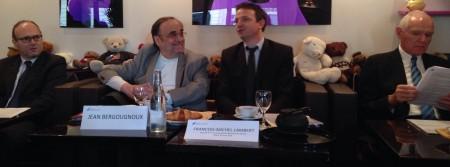 De g. à d. Patrice Novo, Jean Bergougnoux, François-Michel Lambert, Serge Lepeltier