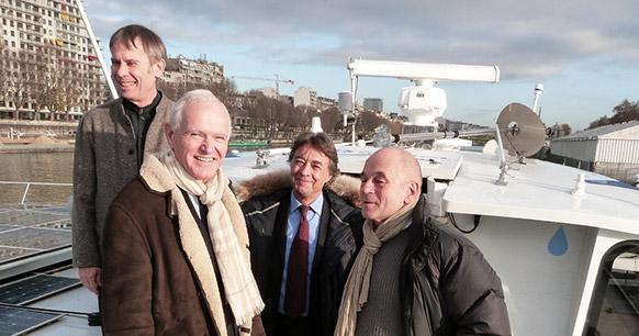 André-Jean Guérin (Fondation Nicolas Hulot), Serge Lepeltier (EdEn), Gilles Rogers-Boutbien (EdEn), Gérard d'Aboville (Race for Water)