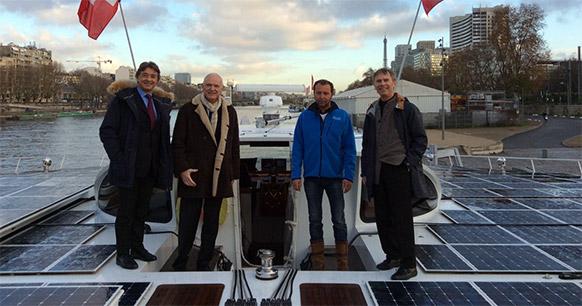 Gilles Rogers-Boutbien (EdEn), Serge Lepeltier (EdEn), Cédric Pourbaix (Race for Water), André-Jean Guérin (Fondation Nicolas Hulot)