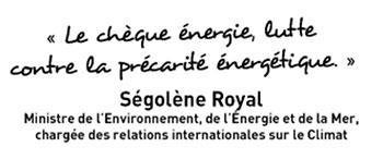 Le chéque énergie, lutte contre la précarité énergétique