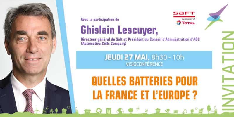 invitation 27 mai 2021 - Ghislain Lescuyer, Directeur général de Saft